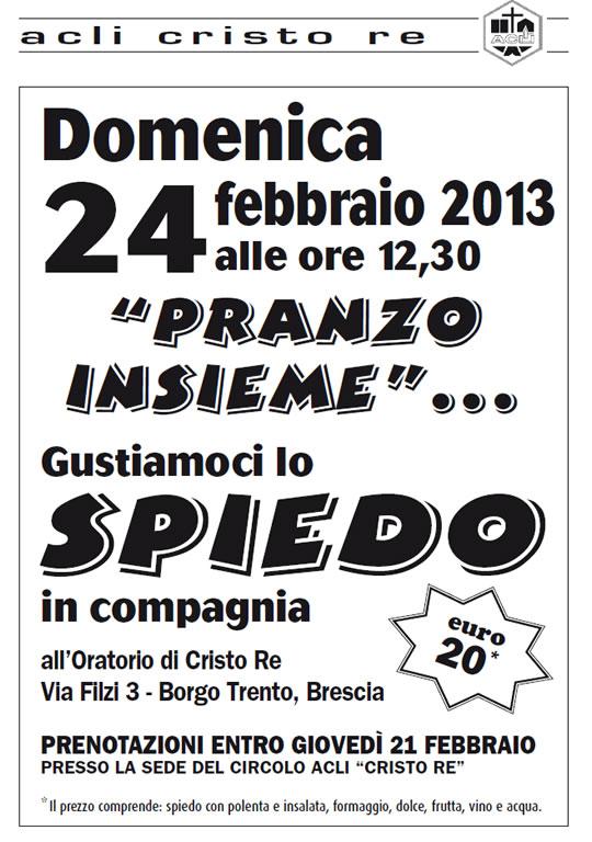 pranzo insieme a Brescia