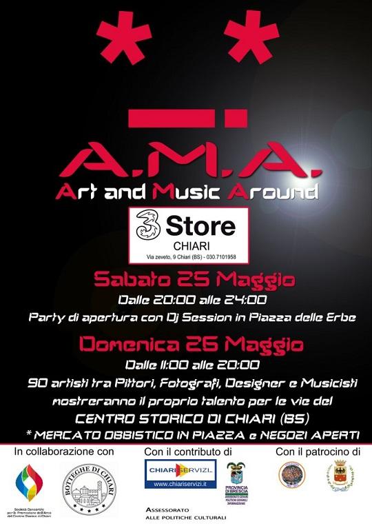 A.M.A. Art and Music Around 2013 Chiari Locandina