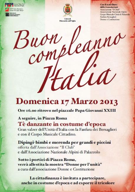 Buon Compleanno Italia a Palazzolo S.O