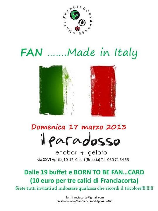 F.A.N. festeggiano l'unita d'Italia a Chiari