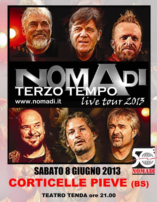 Nomadi in concerto a Corticelle Pieve