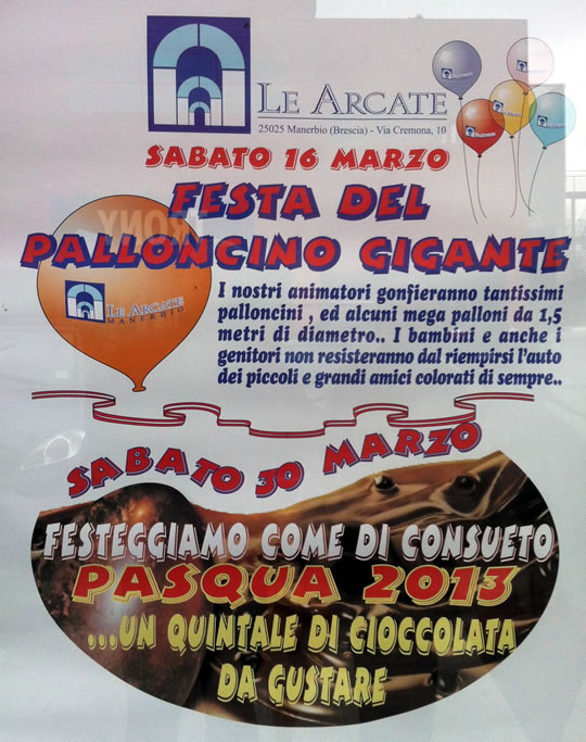 festa del palloncino gigante a Manerbio