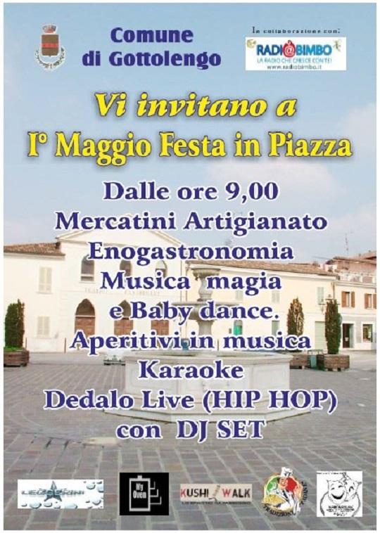 1 Maggio Festa in Piazza a Gottolengo