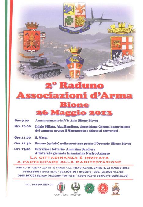 2 Raduno Associazioni d'Arma a Bione