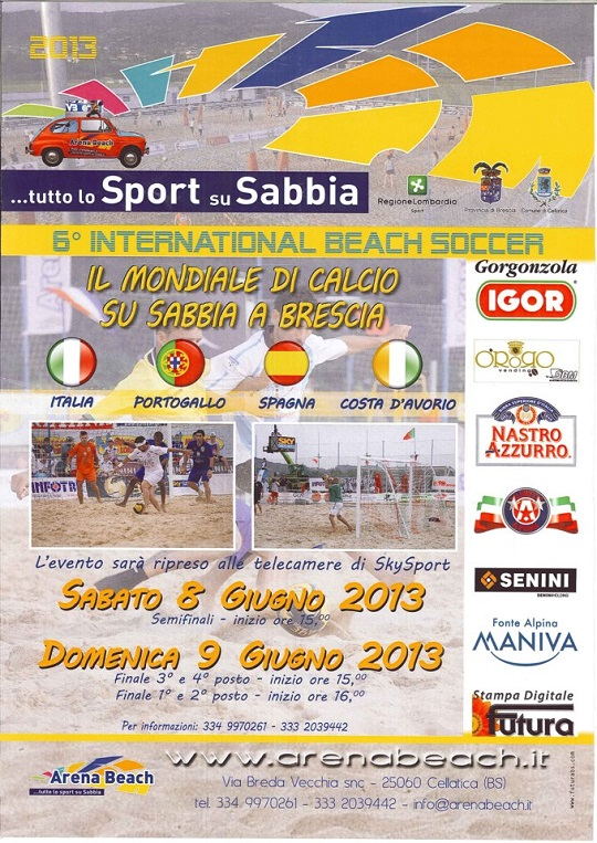 6° International Beach Soccer 8-9 giugno Cellatica (bs)
