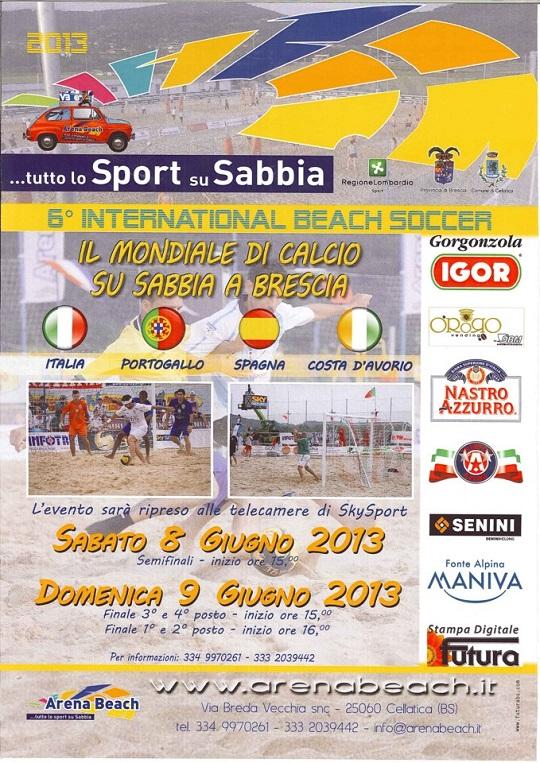 6° International Beach Soccer 8-9 giugno Cellatica (bs)