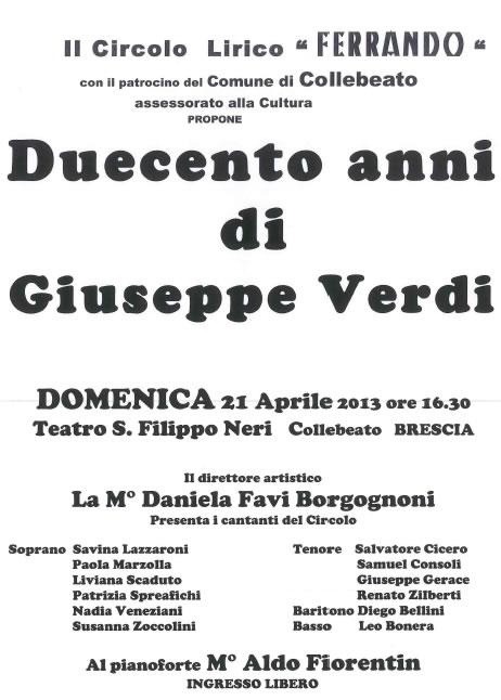 Duecento Anni di Giuseppe Verdi a Collebeato