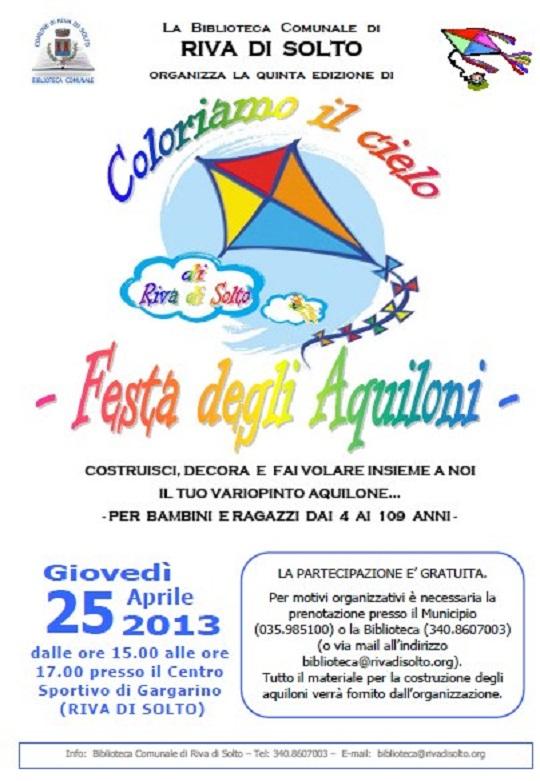 Festa degli Aquiloni 2013 a Riva di Solto