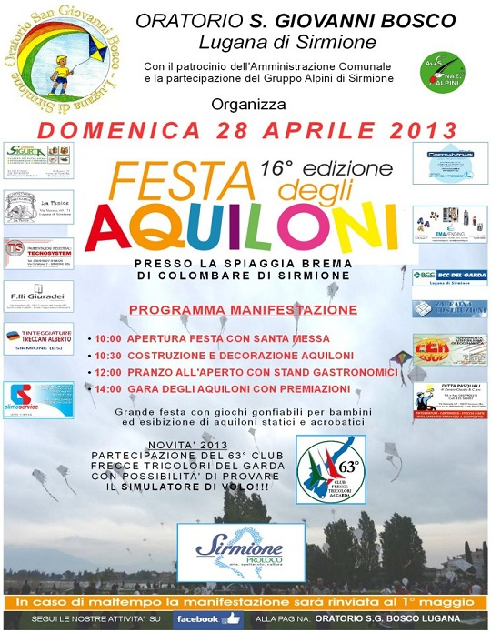 Festa degli Aquiloni Lugana di Sirmione 28-4-2013