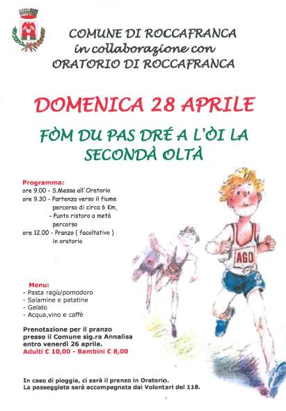 Fom Du Pas Dre a L'Oi la Seconda Olta a Roccafranca
