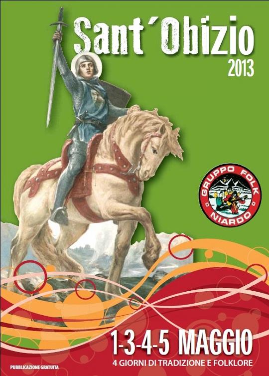 Festa Sant Obizio 2013 a Niardo locandina