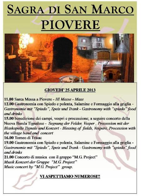 Sagra di San Marco a Piovere