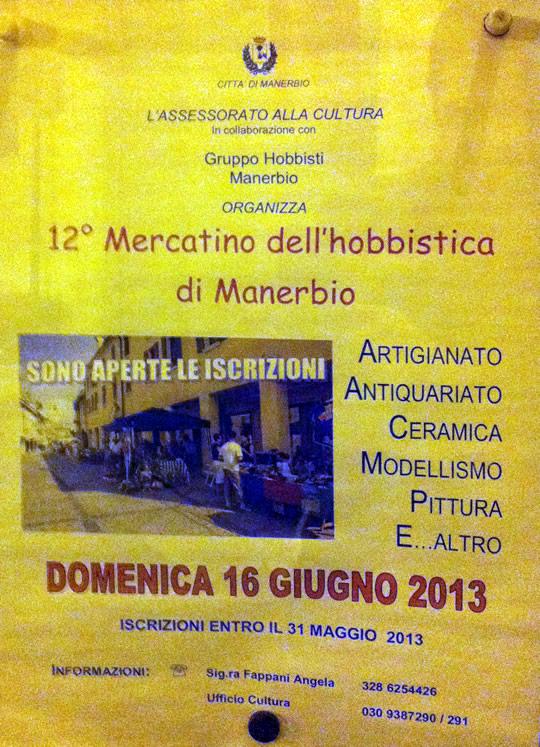 mercato dell hobbistica a Manerbio