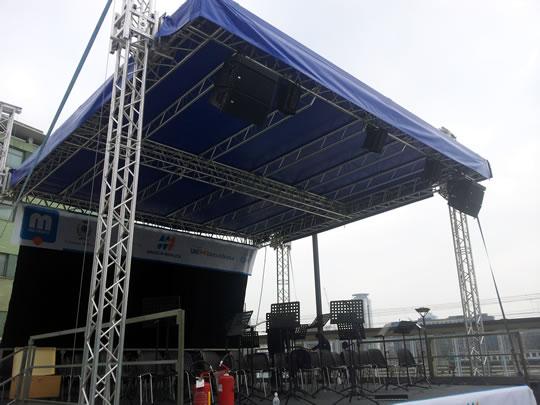 noleggio palco per concerti a Brescia