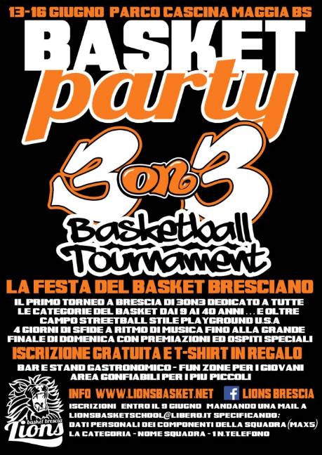 Basket Party a Brescia