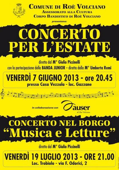 Concerto per l'Estate a Roe Volciano