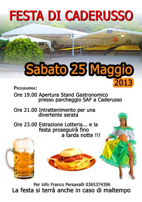 Festa di Caderusso a Gavardo