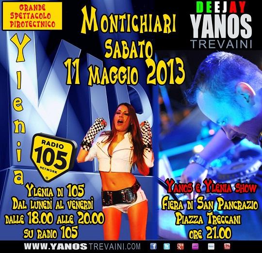 Grande Evento con Yanos Trevaini Dj e Ylenia di Radio 105