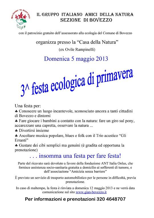 3 festa ecologica di primavera 2013 Bovezzo