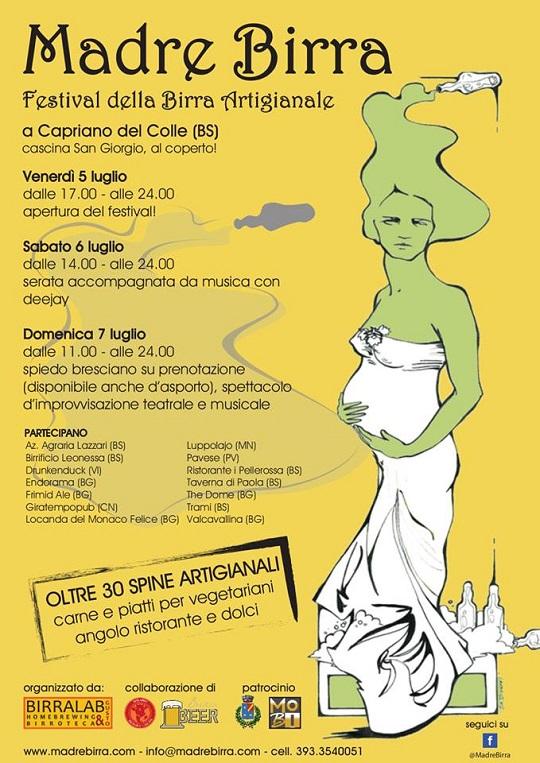 Madre birra 2013 Capriano del Colle Locandina