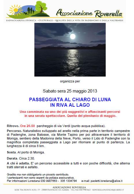 Passeggiata al Chiaro di Luna a Padenghe
