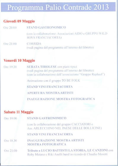 Programma Palio San Gottardo 1