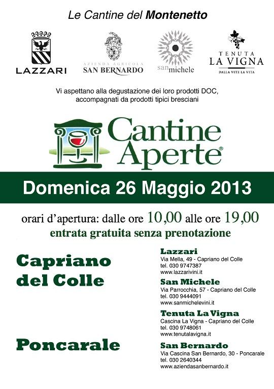 Volantino Cantine Aperte 2013
