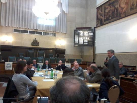 conferenza stampa Broletto Madein rovincia di Brescia