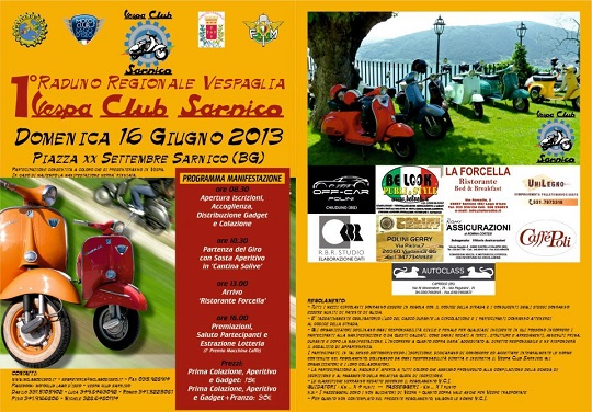 1 Raduno Regionale Vespaglia 2013 Vespa Club Sarnico