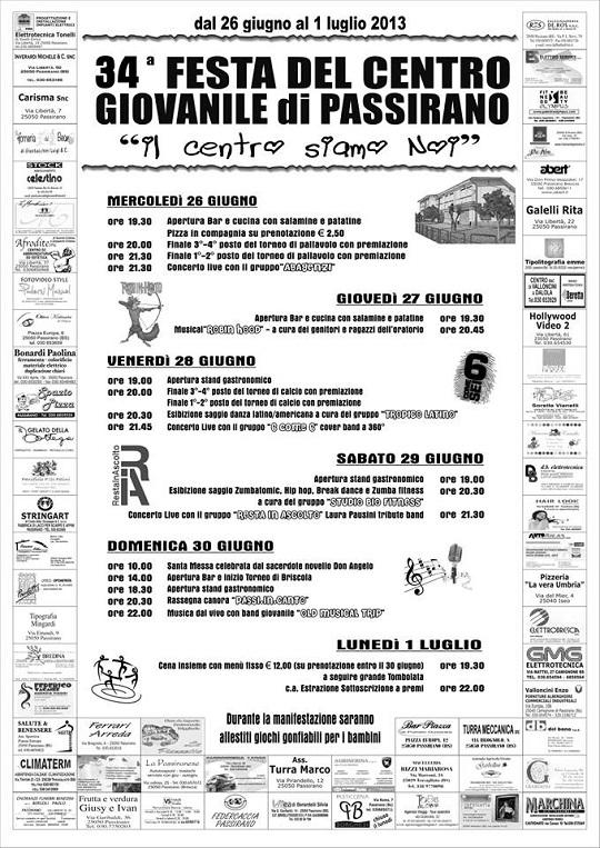 34 Festa del centro Giovanile di Passirano 2013