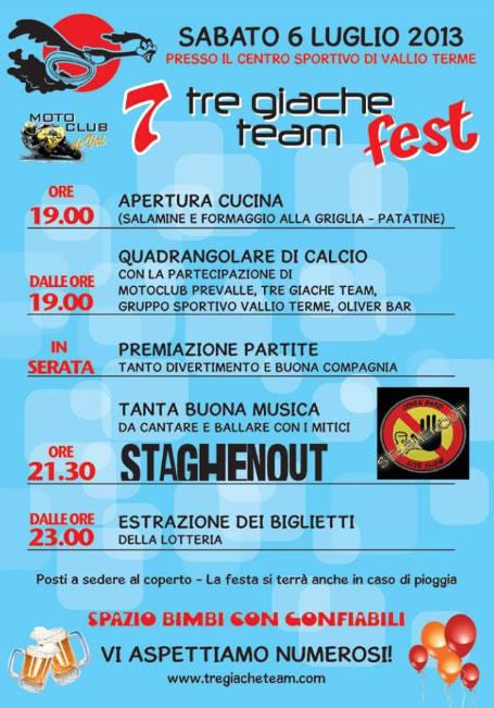 7 Tre Giache Team Fest a Vallio Terme