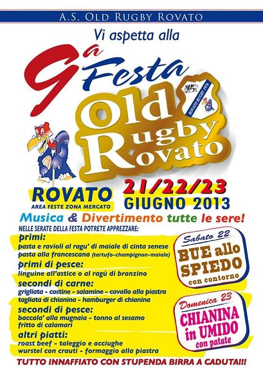 9 Festa Old Rugby Rovato 2013