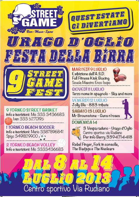 9 Street Game Fest a Urago d' Oglio