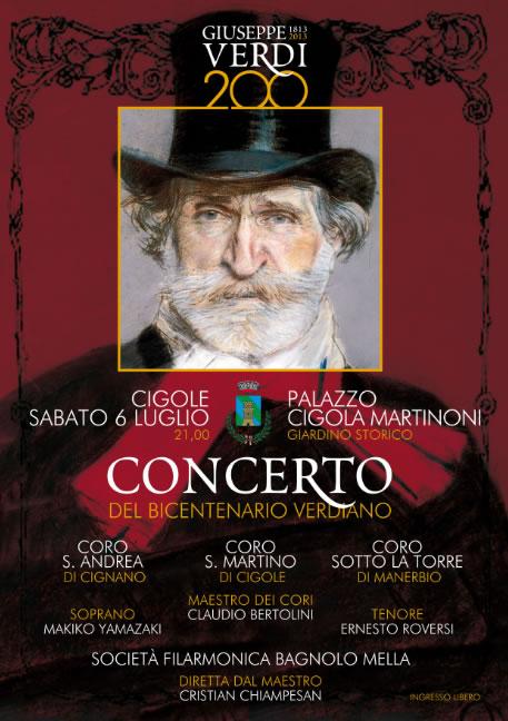 Concerto del Bicentenario Verdiano a Cigole