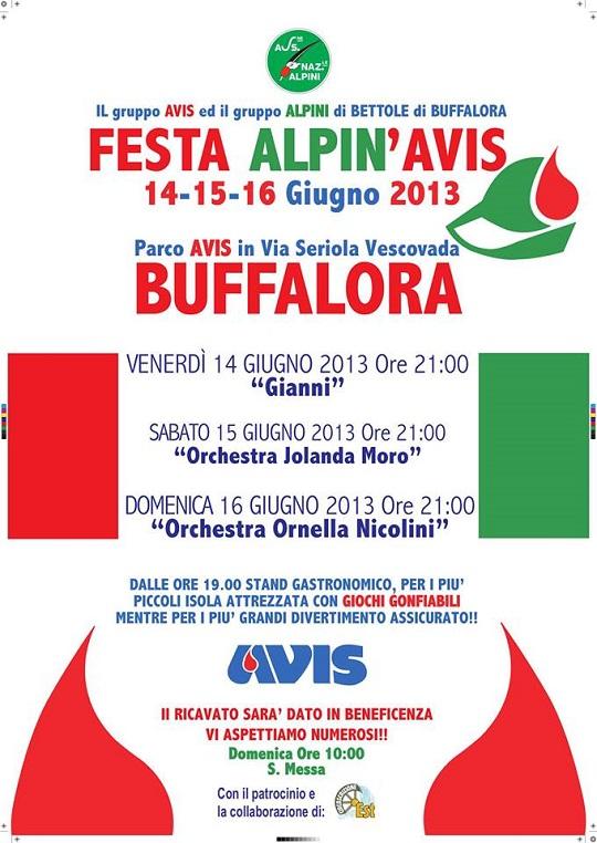 Festa Alpin AVIS 2013 Buffalora