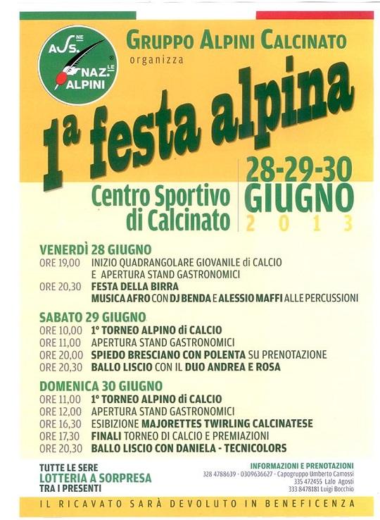 Festa Alpina 2013 Calcinato