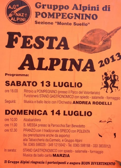 Festa Alpina a Pompengnino