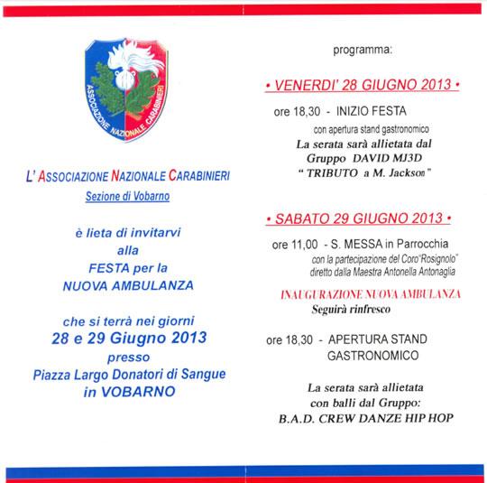 Festa Nuova Ambulanza