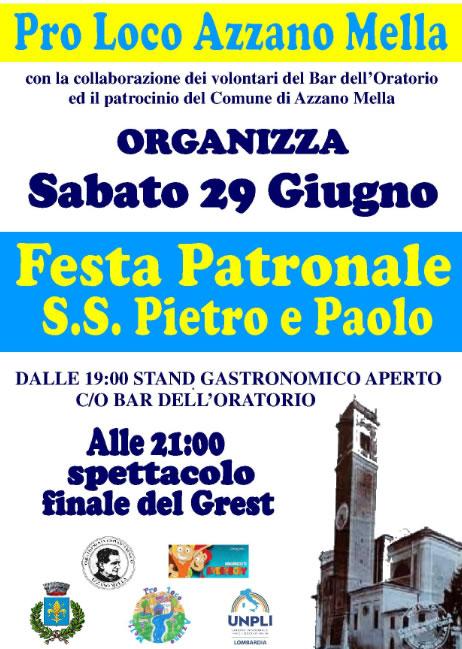 Festa Patronale SS. Pietro e Paolo Azzano Mella