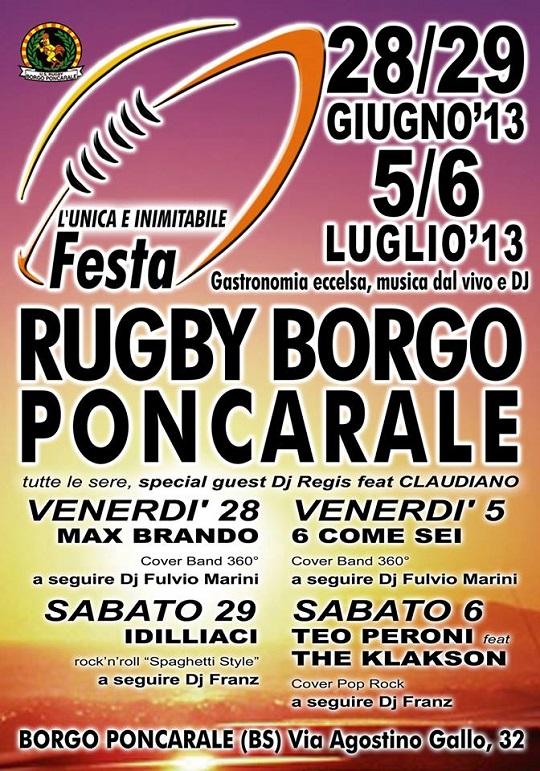 Festa Rugby Borgo Poncarale 2013