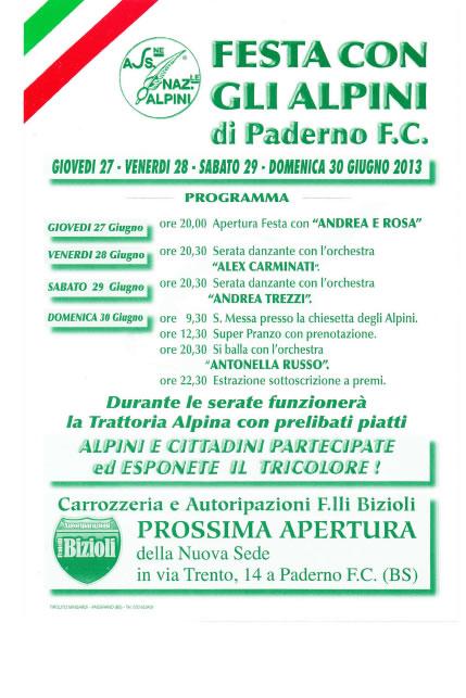 Festa con gli Alpini di Paderno FC