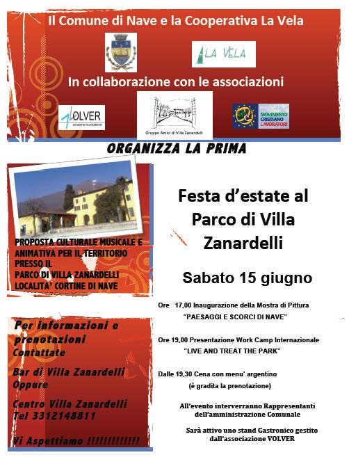 Festa d' Estate al Parco di Villa Zanardelli a Nave