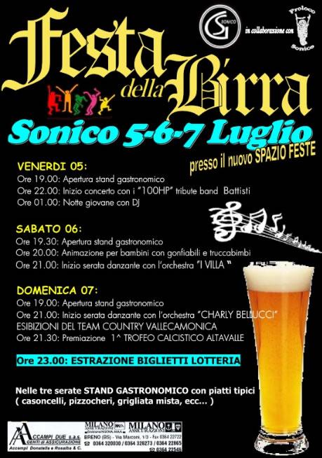 Festa della Birra a Sonico