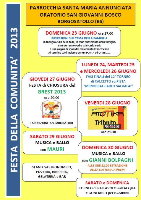 Festa della Comunita a Borgosatollo