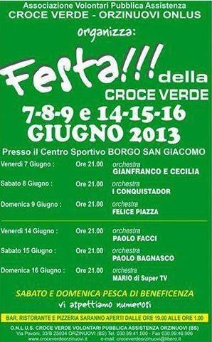 Festa della Croce Verde di Orzinuovi a Borgo San Giacomo 2013