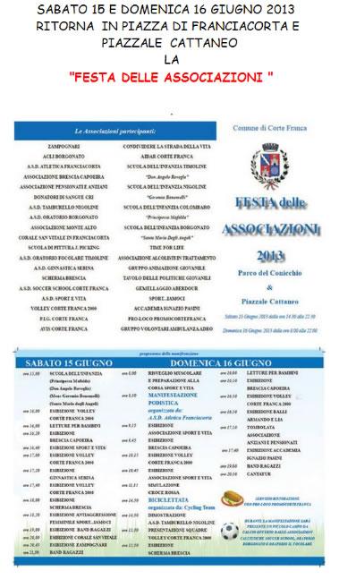 Festa delle Associazioni a Corte Franca
