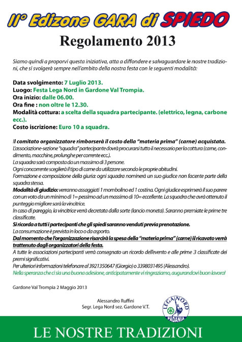 Gara di Spiedo a Gardone VT