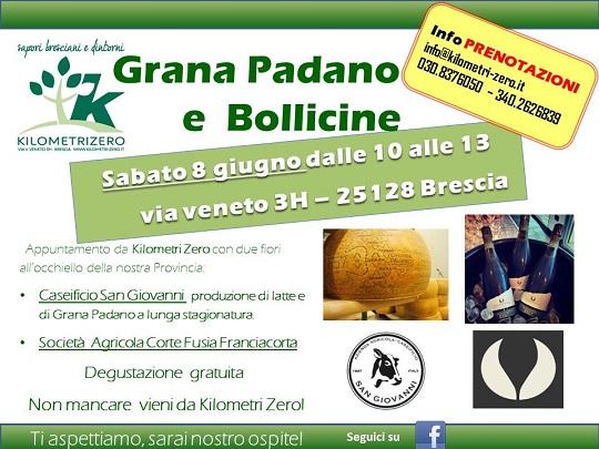Grana Padano e Bollicine a Km 0 Brescia