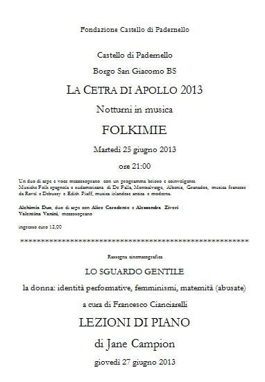 La Cetra di Apollo 2013 a Padernello