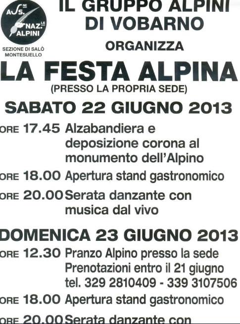 La Festa Alpina a Vobarno